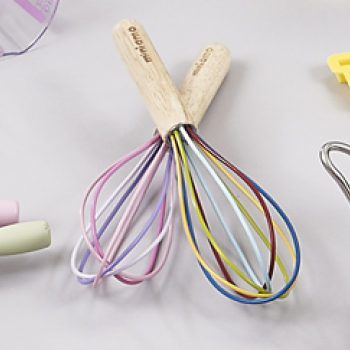 coloured wire whisks