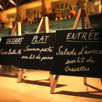 Menus and signs