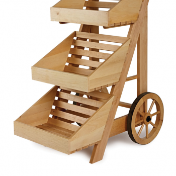 3 tier wooden cart