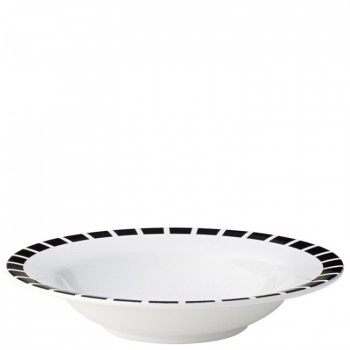 Black Tile Pasta Bowl